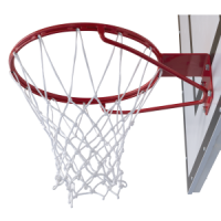 Basketball net, nylon, white